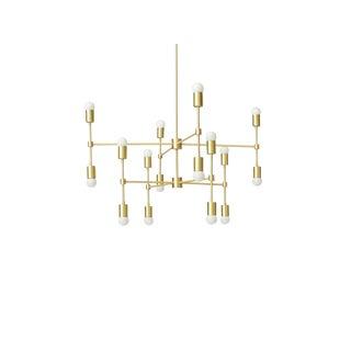 Clad Home Large Brass Mid-Century Modern Light