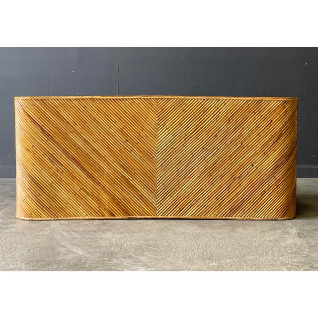 Mid 20th Century Vintage Bamboo Sofa For Sale - Image 5 of 10