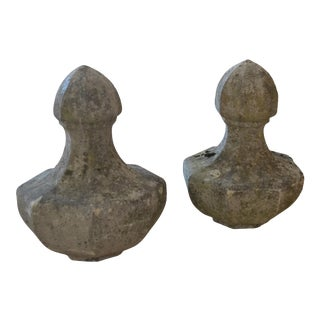 Stone Finials, a Pair For Sale