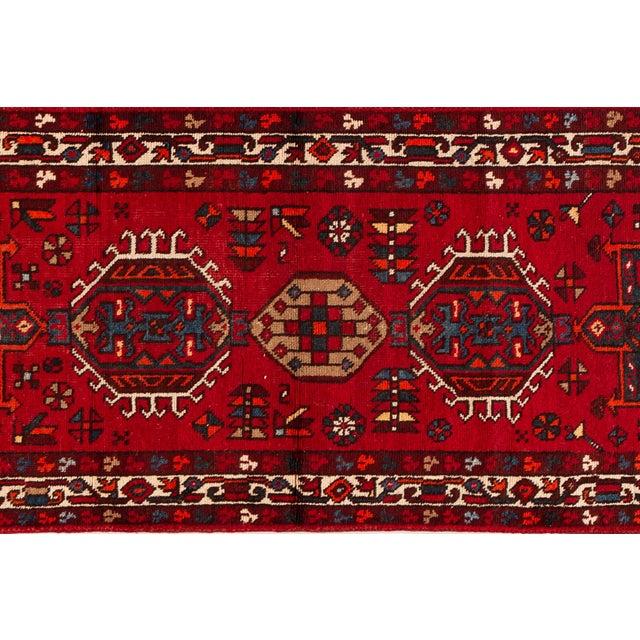 "1960s Apadana - Vintage Persian Heriz Runner Rug, 3'1"" X 10'11"" For Sale - Image 5 of 7"