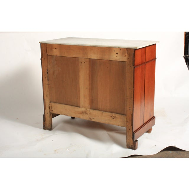 Antique Napoleon III-Style Marble Top Dresser Circa 1900 For Sale - Image 9 of 10