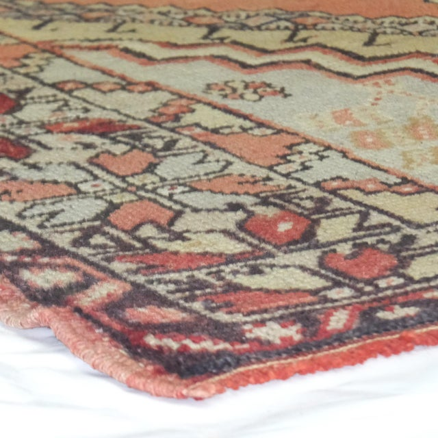 "Leon Banilivi Oushak Wool Rug- 3'7"" X 4'10"" - Image 5 of 5"