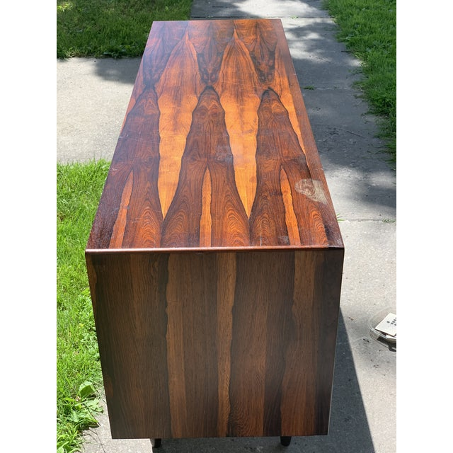 Svend Madsen for Falster small rosewood credenza Gorgeous rosewood veneer/solid credenza, great color and grain. Very nice...