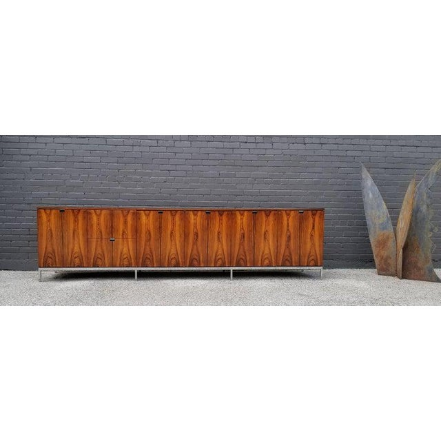 This monumentally proportioned media console was custom ordered by an east coast architect for his personal estate. It is...