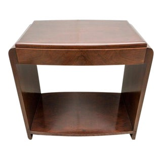 Art Deco French 1930s End Table With Drawer - Restored For Sale