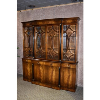 1970s Vintage Mahogany Regency Style China Cabinet Preview