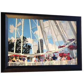 Navy Pier Acrylic Painting For Sale