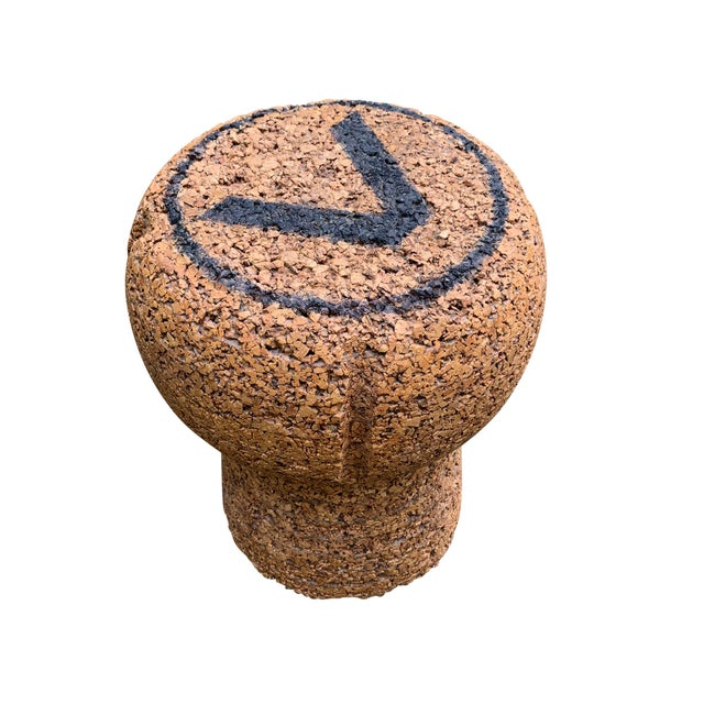 Vintage Champagne Cork Stool or Side Table For Sale In Chicago - Image 6 of 11