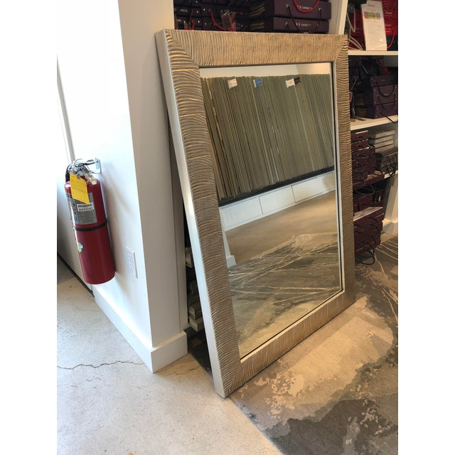 Glass Transitional Style Silver Leaf Wall Mirror For Sale - Image 7 of 8
