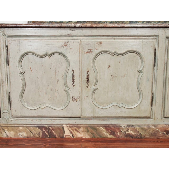 Marble Louis XV Style Marble Top Buffet For Sale - Image 7 of 10
