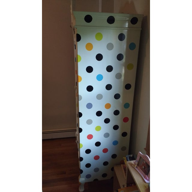 Contemporary Polka Dot Armoire - Image 3 of 4