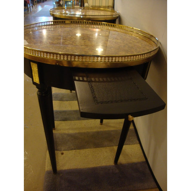 Bronze Louis XVI Style Bouillotte End Tables - A Pair For Sale - Image 7 of 11