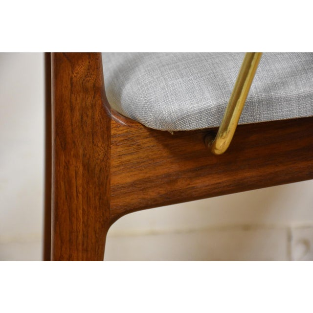 Walnut & Brass Occasional Chair - Image 11 of 11