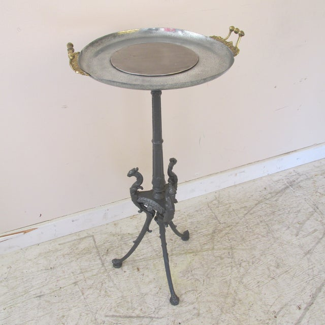 19th Century Italian Style Iron and Steel Tazza Stand For Sale - Image 10 of 10