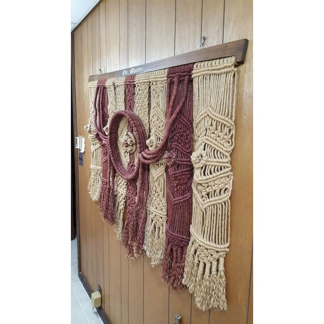 Large Vintage Macrame Wall Hanging Decor Chairish
