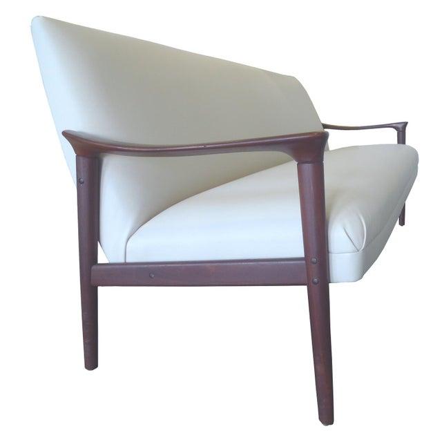 Vintage Ole Wanscher Danish White Sofa - Image 3 of 6