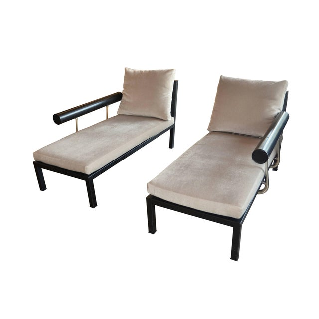 """Leather 1980s Mid-Century Modern Antonio Citterio for B&b Italia """"Baisity"""" Leather Chaise Lounge For Sale - Image 7 of 11"""