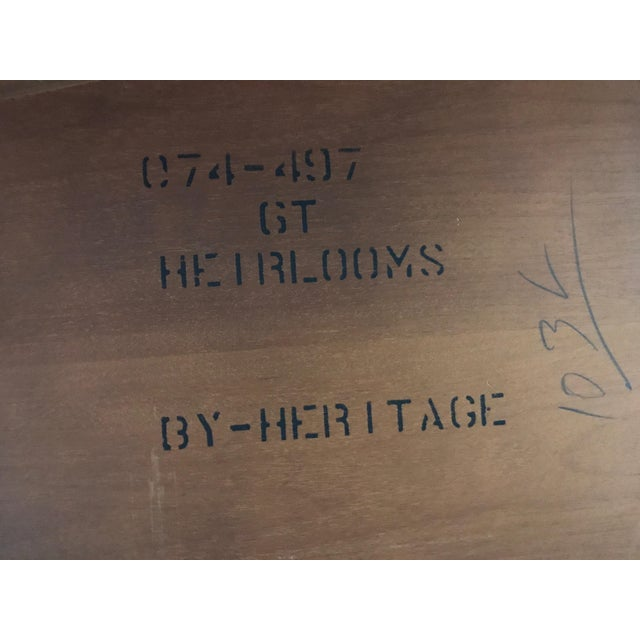 Drexel Heritage Heirlooms Chippendale Mahogany Ball Claw Card Table For Sale - Image 11 of 11