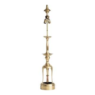 Tall Brass Candlestick Lamp