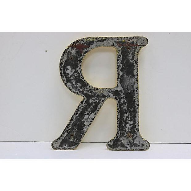 Vintage letter salvaged from an English pub sign. Heavy and good quality with smooth rounded edges. Can drill to apply...