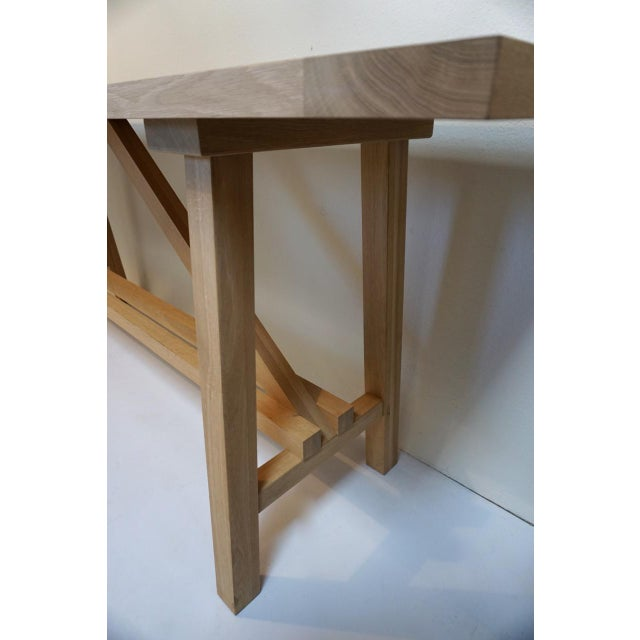 Beautifully crafted, sturdy, extra long console or work table custom made by Bohemian Works (Prague). The Toscha...
