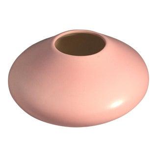 1980s Vintage Pink Vase For Sale