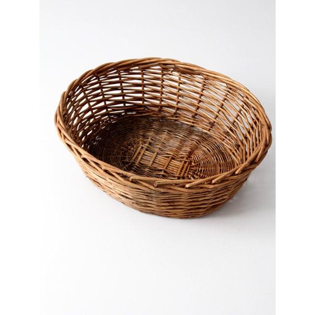 Vintage Oval Woven Reed Basket - Image 6 of 6