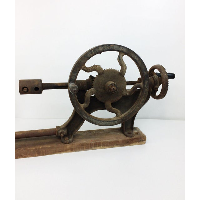 Antique Champion Blower Forge Wall Mount Hand Crank Drill Press
