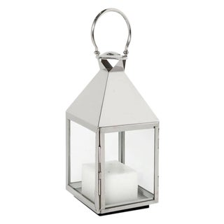 Silver Glass Lantern With Handle by Eichholtz Vanini M For Sale