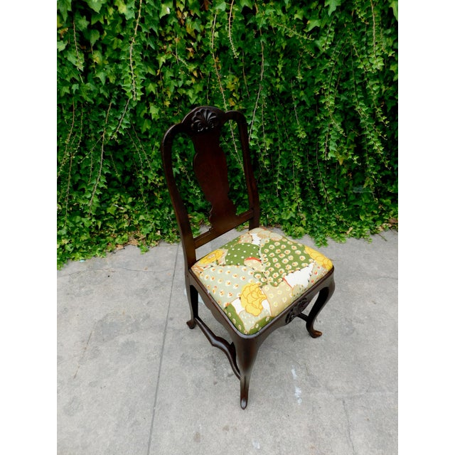 This accent chair features new upholstery with vintage fabric from the 1950's with a cactus motif. Pair it with a desk or...