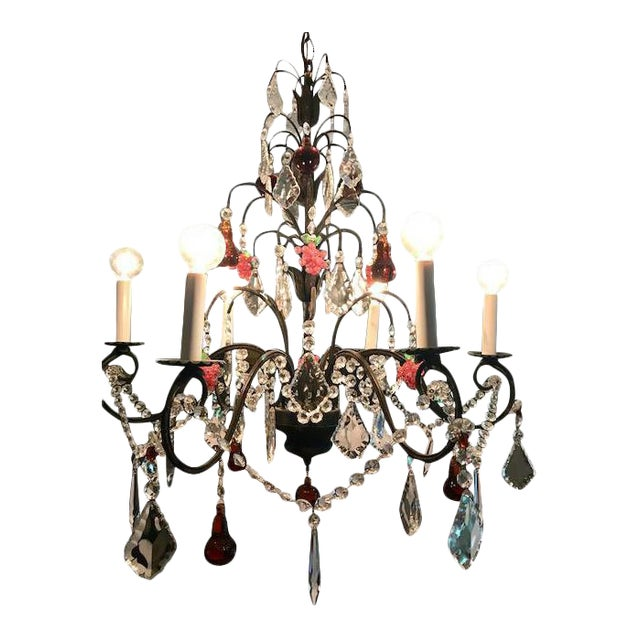 Dark Bronze Crystal Chandelier - Image 1 of 11