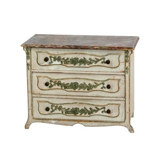 Circa 1870 Miniature Italian Painted Chest of Drawers
