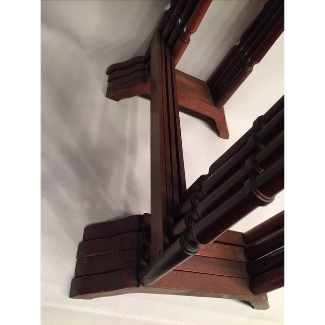 1820s English Walnut Nesting Tables, Signed - 4 - Image 9 of 11
