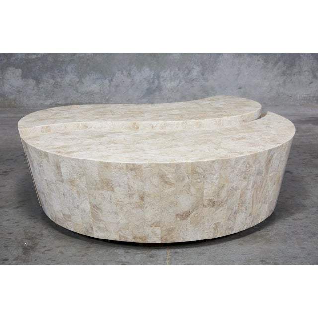 """Contemporary 1990s Contemporary Freeform Tessellated Stone Two Part """"Hampton"""" Coffee Table For Sale - Image 3 of 13"""
