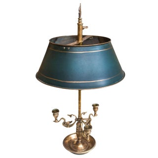 2-Light Brass Bouillotte Gaming Lamp, France Circa 1930 For Sale