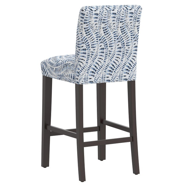 Bar stool in Snake Skin Blue For Sale - Image 4 of 8