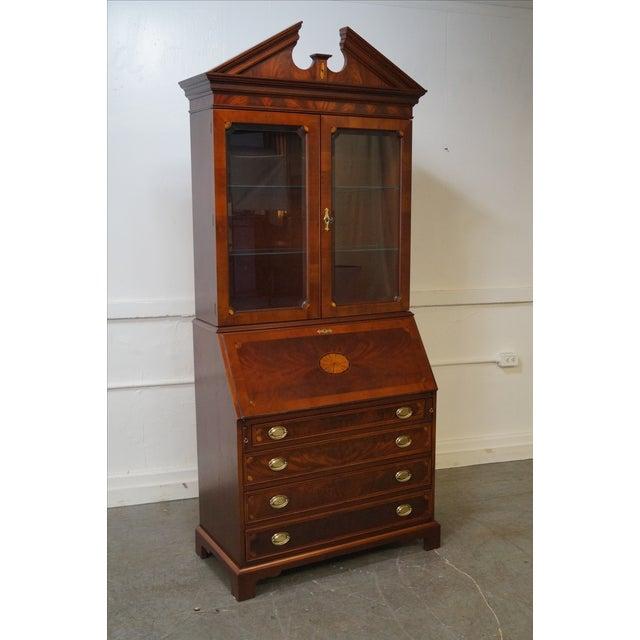 Hekman Mahogany & Yew Wood Inlaid Secretary Desk - Image 3 of 10
