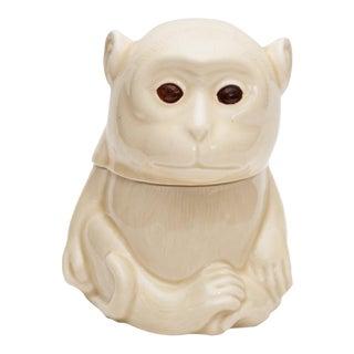 1950s Japanese Porcelain Monkey Box For Sale