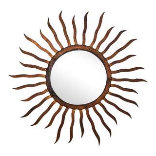 Gilded Iron Sun Mirror