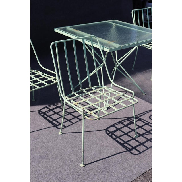 Woodard 5pc Atomic Style Wrought Iron Patio Set For Sale In Philadelphia - Image 6 of 10