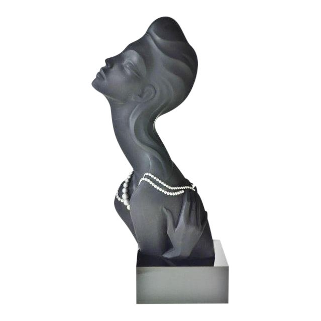Vintage 1990 Austin Productions Alexander Danel Pearls Sculpture of Woman - Rare For Sale