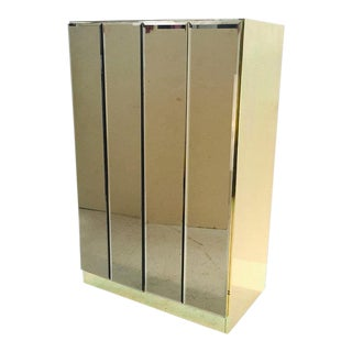 Small Ello Bronze Mirrored Cabinet For Sale