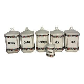 Antique Cech Slov Cll Canister Set - Set of 6 For Sale