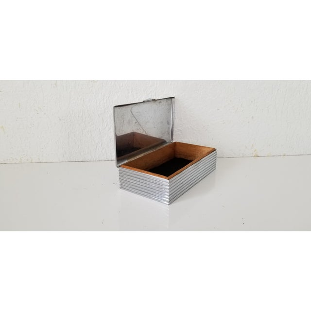 Vintage Silver Plate Box . For Sale - Image 4 of 9