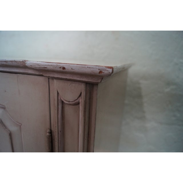 French Made Painted Buffet Cabinet Signed Paris - Image 8 of 10
