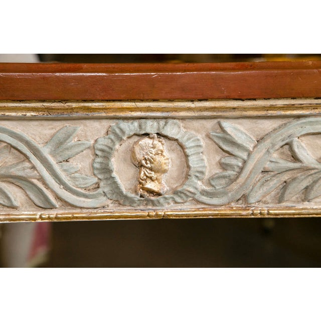 Swedish Paint Decorated Console Tables - A Pair - Image 7 of 8