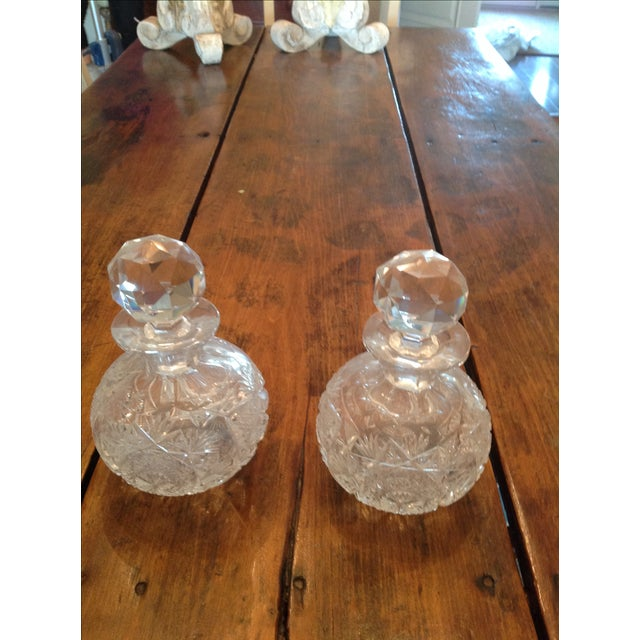 American Brilliant Cut Glass Decanters - A Pair - Image 3 of 5