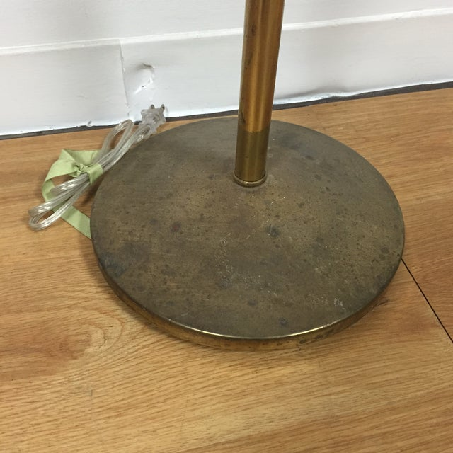 Atomic Brass & Black Floor Lamp - Image 6 of 8