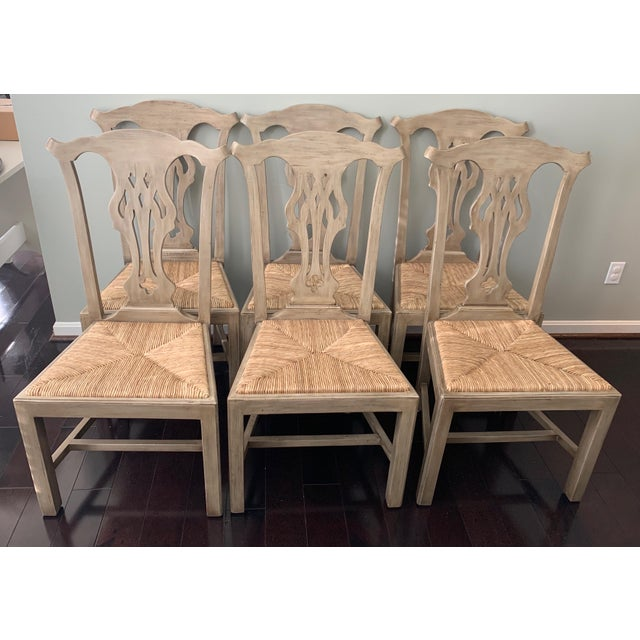 Designer English Country Dining Chairs - Set of 6 For Sale - Image 12 of 12