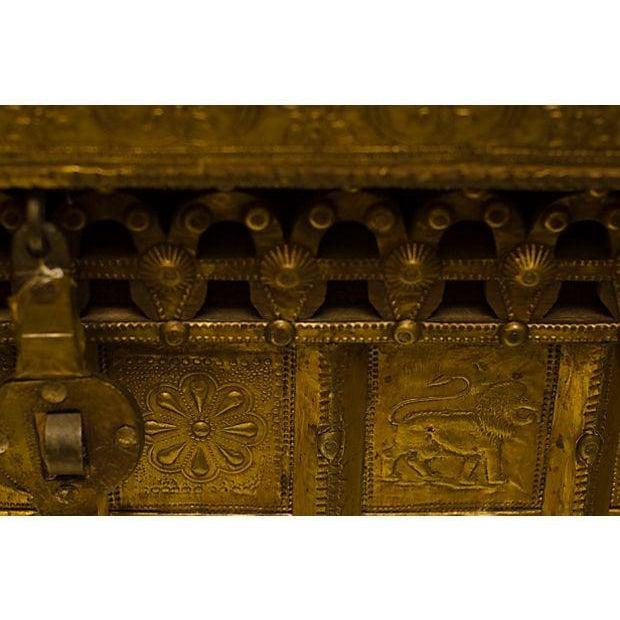 Brass Kindling Trunk For Sale - Image 4 of 4